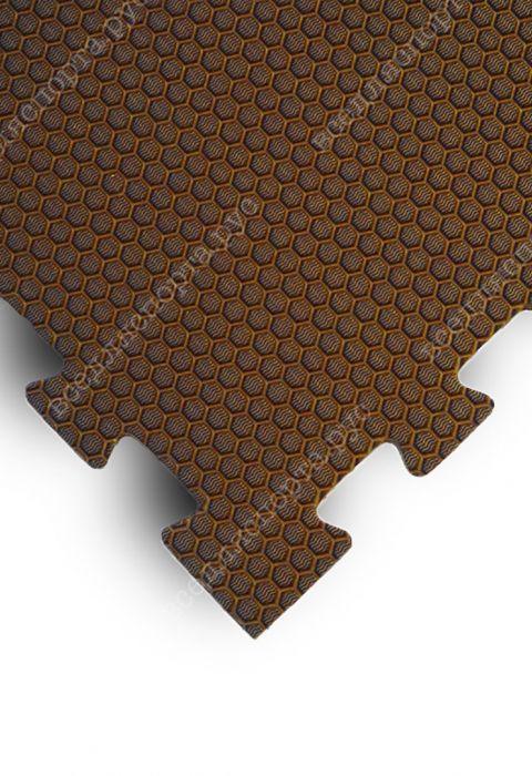 Мягкий пол универсальный, 100*100(см), толщина 1.4см, коричневый