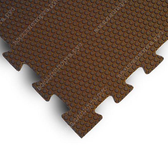 Мягкий пол EVA «Ласточкин хвост» 1,4 см 35 ШОР коричневый