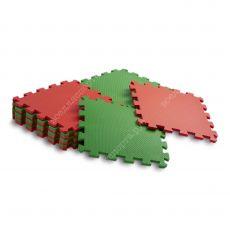 Мягкий пол универсальный, 25*25(см), толщина 1см, красно-зеленый