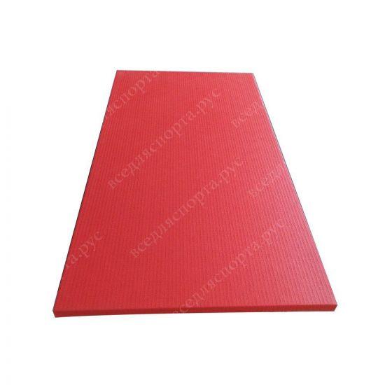 """Татами """"JUDO"""" с открытым дном, толщина 4см, плотность 200, цвет красный"""