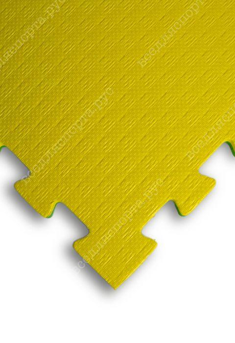 """Будо-маты EVA «Ласточкин хвост» 2см """"Сорт2"""" желто-зеленый"""
