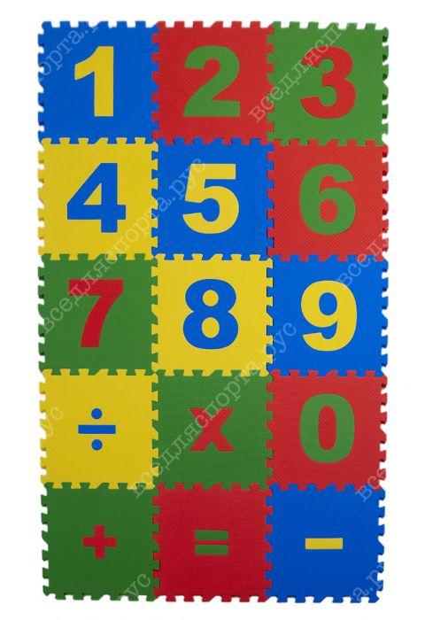"""Комплект """"Математика"""" 25*25(см), толщина 1см, 15 дет."""