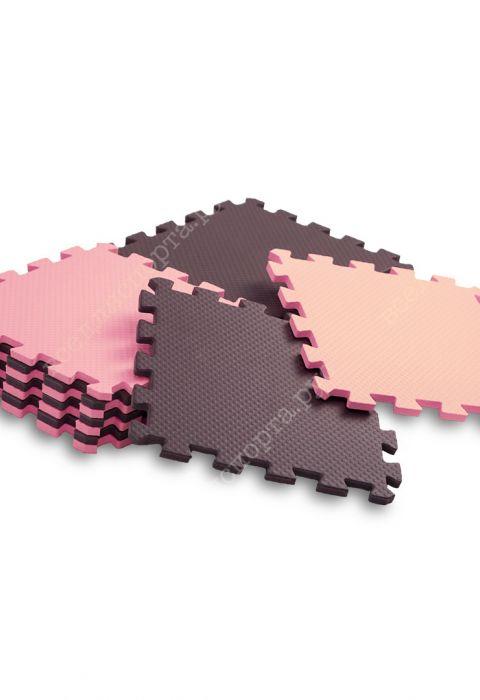 Мягкий пол универсальный, 25*25(см), толщина 1см, розово-коричневый