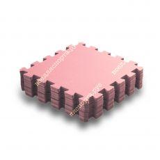Мягкий пол универсальный, 33*33(см), толщина 1см, розовый