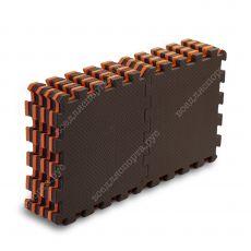 Мягкий пол, 25*25(см), толщина 1см, оранжево-коричневый