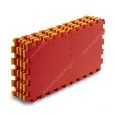 Мягкий пол, 25*25(см), толщина 1см, желто-красный