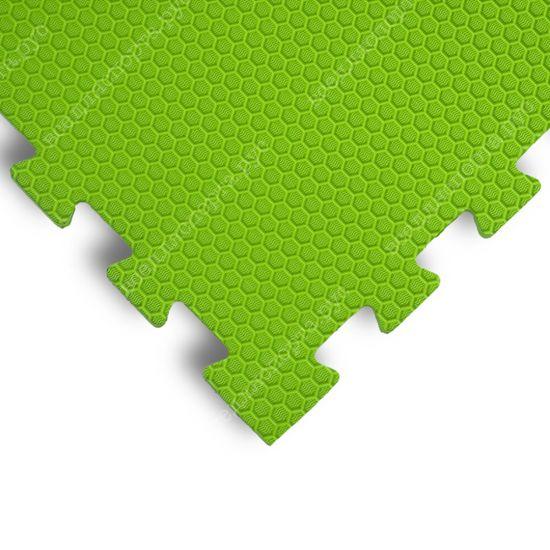 Мягкий пол EVA «Ласточкин хвост» 1,4 см 35 ШОР салатовый