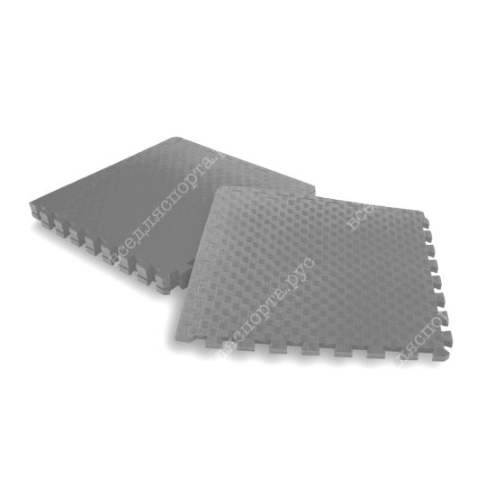 Мягкий пол, 50*50(см), толщина 1.4см, серый