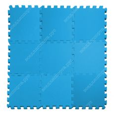 Мягкий пол, 33*33(см), толщина 1см, голубой