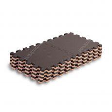 Мягкий пол универсальный, 25*25(см), толщина 1см, бежево-коричневый