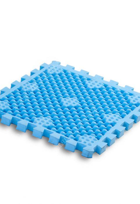 Модульное покрытия для бассейнов, саун и душевых комнат, 320*320*22, цвет голубой