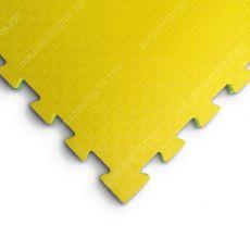 """Будо-маты EVA «Ласточкин хвост» 2,5см WTF """"Сорт2"""" желто-зеленый"""