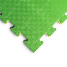 "Будо-маты EVA «Ласточкин хвост» 2см ""ПРОФИ"" желто-зеленый"