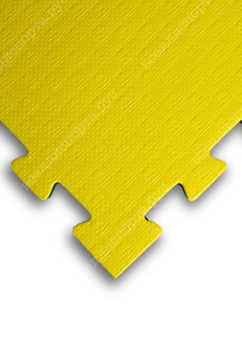 """Будо-маты EVA «Ласточкин хвост» 2,5см WTF """"СТАНДАРТ"""" черно-желтый"""