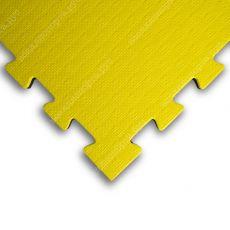"""Будо-маты EVA «Ласточкин хвост» 2,5см WTF """"СТАНДАРТ"""" желто-синий"""