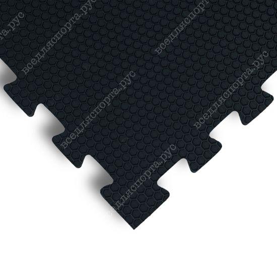 Мягкий пол EVA «Ласточкин хвост» 1,4 см 35 ШОР черный