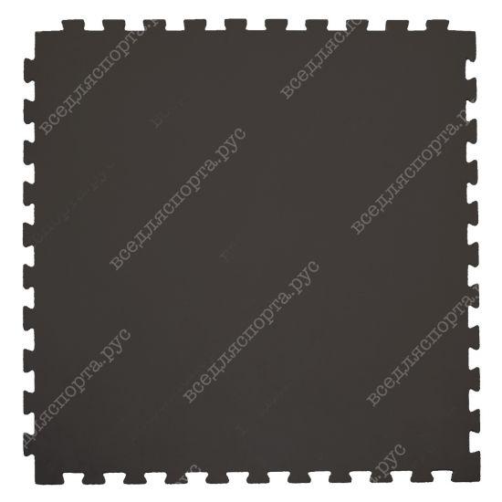Модульное покрытие для тренажерных залов, толщина 1см, 1м х 1м, жесткость 55 ШОР Цвет: коричневый