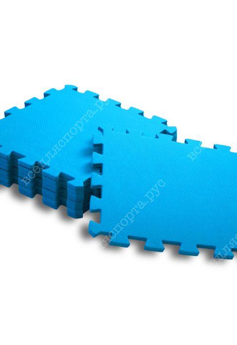 Мягкий пол универсальный, 33*33(см), толщина 1см, голубой
