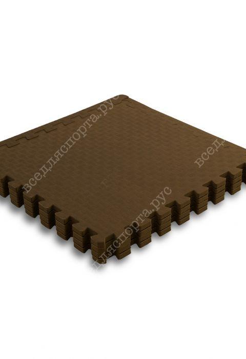 Мягкий пол универсальный, 60*60 (см), толщина 1см, бежево-коричневый
