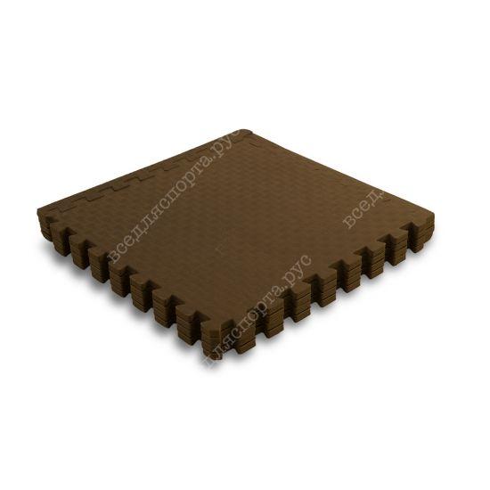 Мягкий пол, 60*60 (см), толщина 1см, бежево-коричневый
