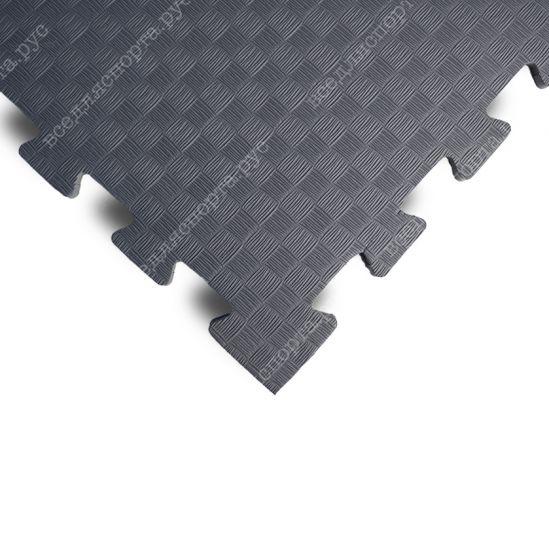 Мягкий пол EVA «Ласточкин хвост» 1 см 35 ШОР серый