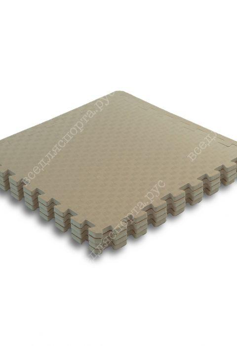 Мягкий пол универсальный, 60*60 (см), толщина 1см, бежевый