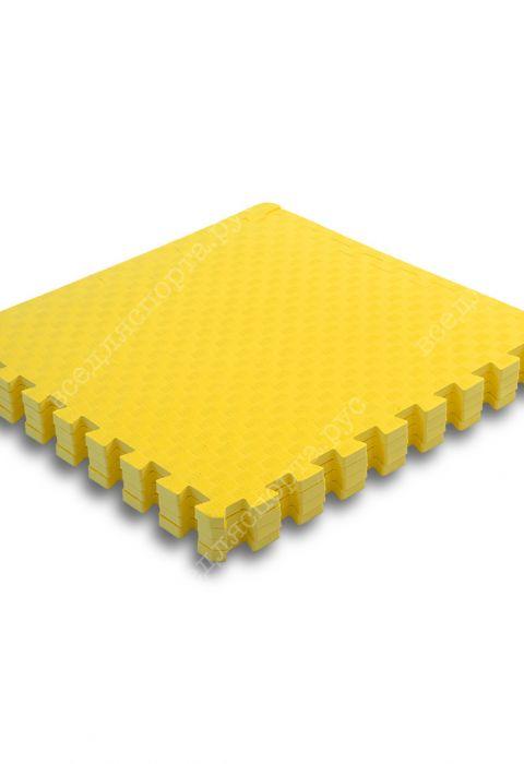 Мягкий пол универсальный, 60*60 (см), толщина 1см, желтый