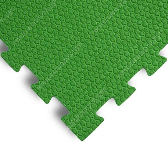Мягкий пол EVA «Ласточкин хвост» 1,4 см 35 ШОР зеленый