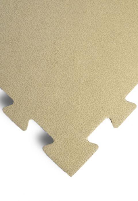 """Модульное покрытие для тренажерных залов, """"Сорт2"""", толщина 1см, 1м х 1м, жесткость 55 ШОР Цвет: беж"""