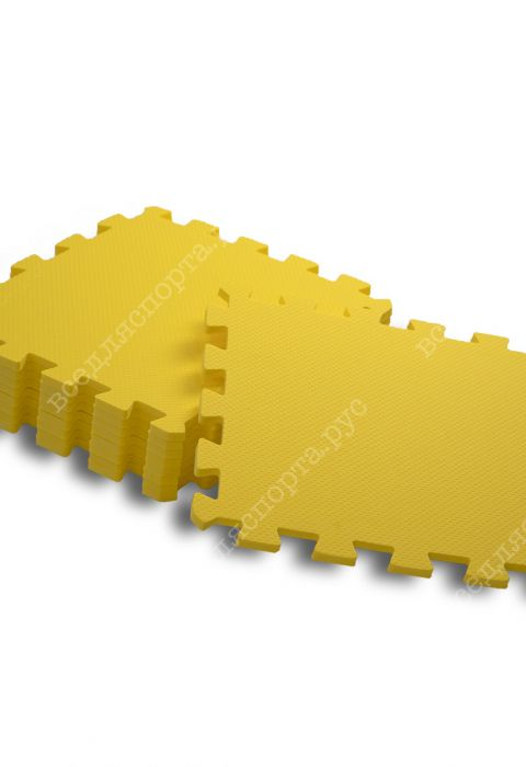 Мягкий пол универсальный, 30*30(см), толщина 1см, желтый
