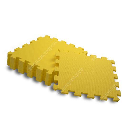 Мягкий пол, 30*30(см), толщина 1см, желтый