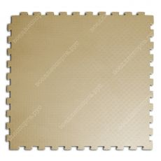 Мягкий пол EVA «Ласточкин хвост» 1 см 35 ШОР бежевый