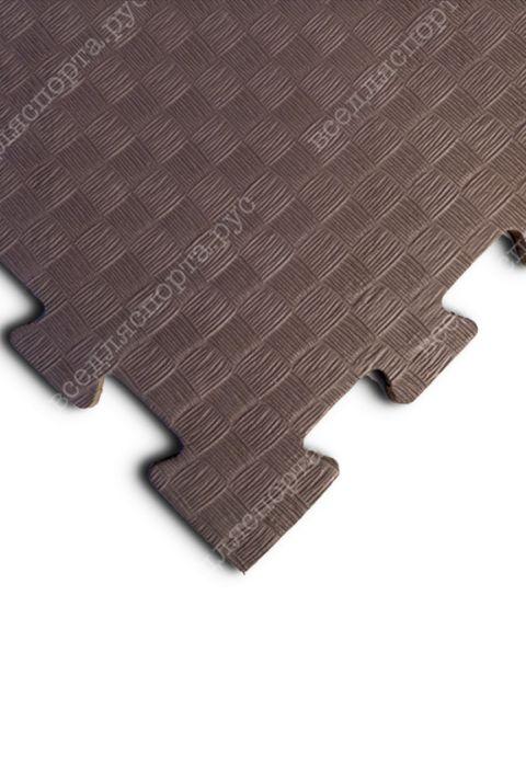 Мягкий пол универсальный, 100*100(см), толщина 1см, коричневый