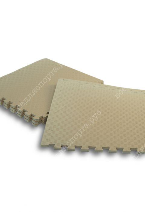 Мягкий пол универсальный, 50*50(см), толщина 1.4см, бежевый