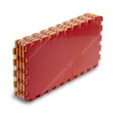 Мягкий пол универсальный, 25*25(см), толщина 1см, желто-красный
