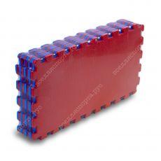 Мягкий пол универсальный, 25*25(см), толщина 1см, красно-синий