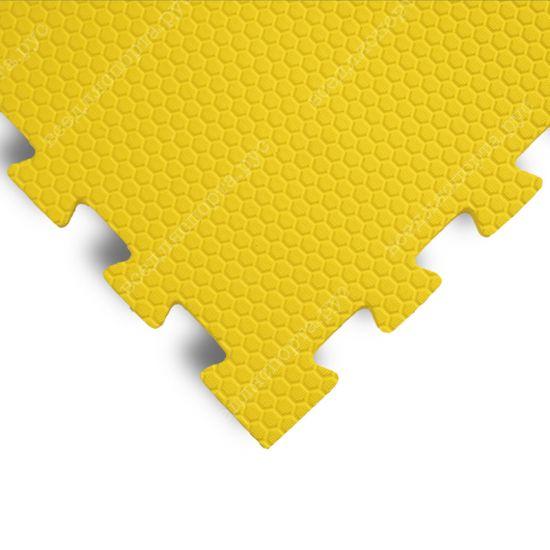 Мягкий пол EVA «Ласточкин хвост» 1,4 см 35 ШОР желтый