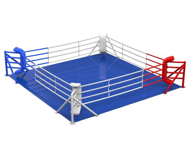 Ринг боксерский напольный на упорах, боевая зона 5 х 5