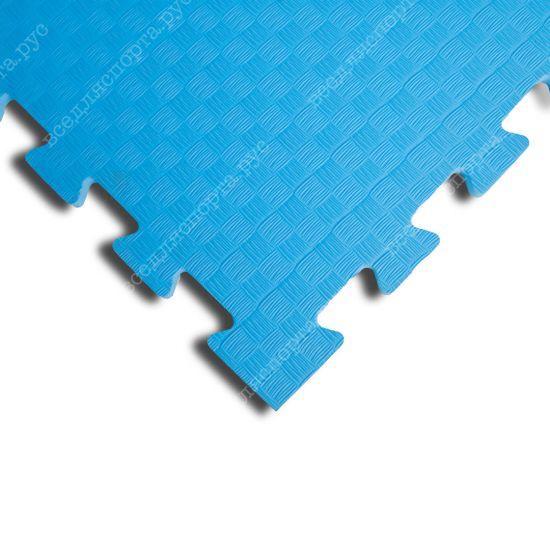 Мягкий пол EVA «Ласточкин хвост» 1 см 35 ШОР голубой