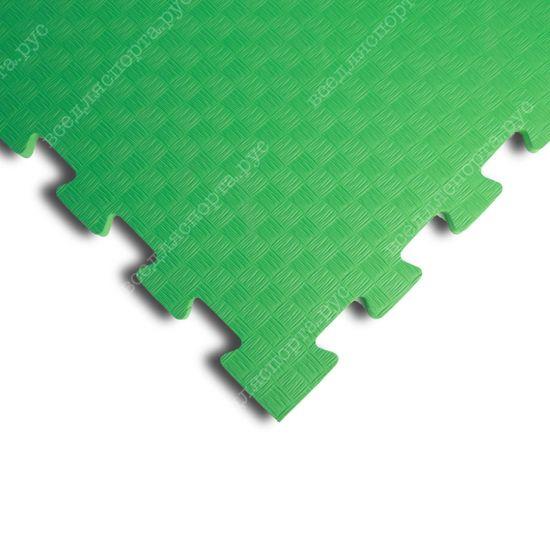 Мягкий пол EVA «Ласточкин хвост» 1 см 35 ШОР зеленый