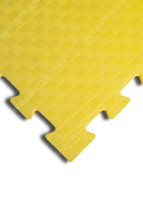 Мягкий пол универсальный, 100*100(см), толщина 1см, желтый