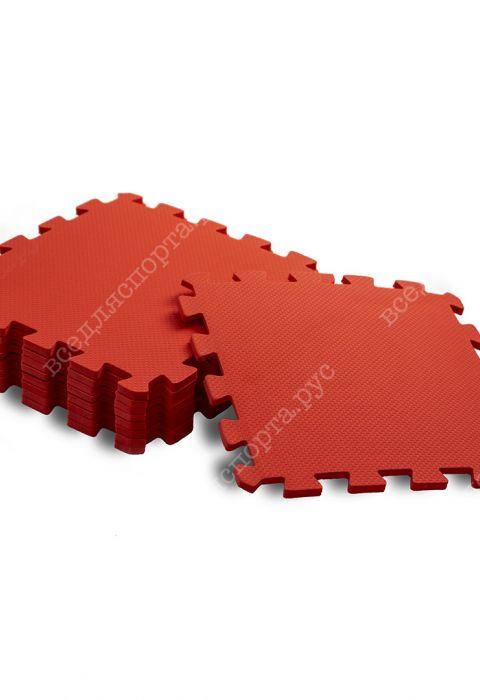Мягкий пол универсальный, 33*33(см), толщина 1см, красный