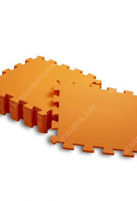 Мягкий пол универсальный, 33*33(см), толщина 1см, оранжевый