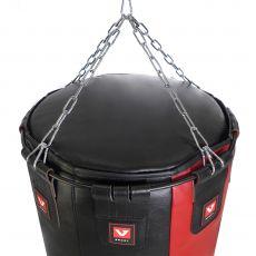 Мешок боксерский «Силуэт» из натуральной кожи, высота 120 см, Ø 40 см, вес 45 кг.