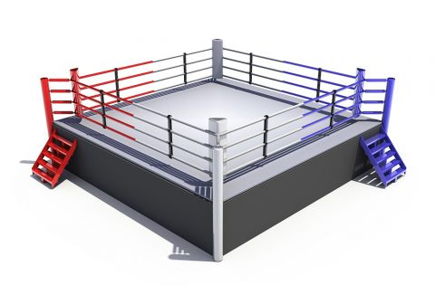 Ринг боксерский на помосте 0.5 м, боевая зона 4 х 4