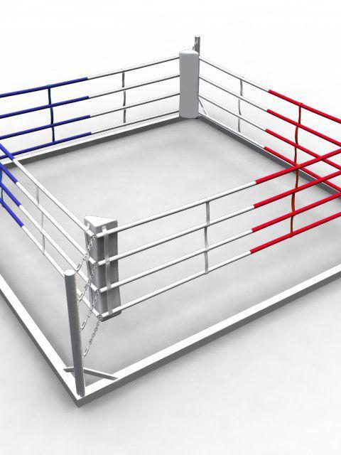Ринг боксерский напольный на силовой раме, боевая зона 5 х 5