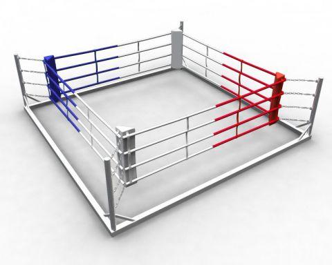 Ринг боксерский напольный на силовой раме, боевая зона 4 х 4